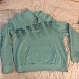 Sweaters - Pink half zip